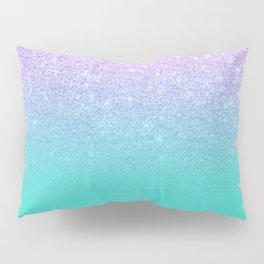 Modern mermaid lavender glitter turquoise ombre pattern Pillow Sham