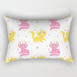 Magical Unicats! (Alternative Colorway) Rectangular Pillow