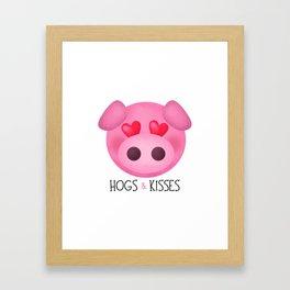 Hogs & Kisses Framed Art Print