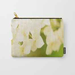 White Hydrangea On A Green Background #decor #buyart #society6 Carry-All Pouch