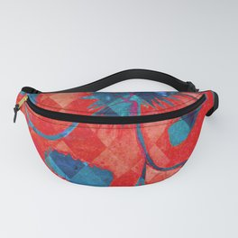 Red and Blue Diamond Pattern Fanny Pack
