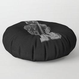 Vintage robot Floor Pillow