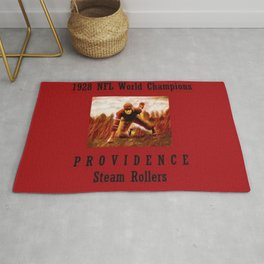 1928 American Football World Champions Providence Steam Rollers Rug