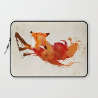 custom Laptop Sleeves featuring Vulpes vulpes by Robert Farkas
