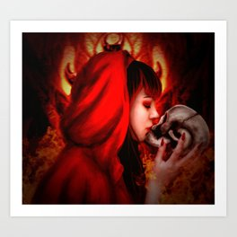 Hell's Kiss Art Print