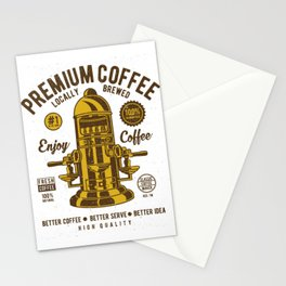 Classic Coffee Maker - Locally Brewed Stationery Cards