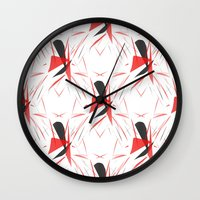 contemporary Wall Clocks featuring Contemporary Abstract by lillianhibiscus