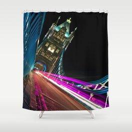 Funky Tower Bridge London Shower Curtain