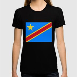 National flag of the Democratic Republic of the Congo, Authentic version (to scale and color) T-shirt