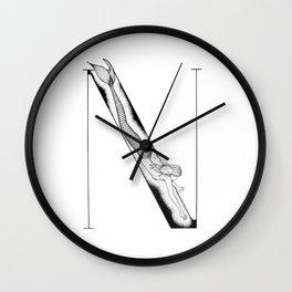 Mermaid Alphabet Series - N Wall Clock