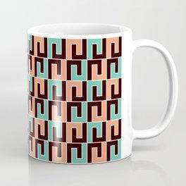 Geometric Pattern 215 (pink turquoise bricks) Coffee Mug