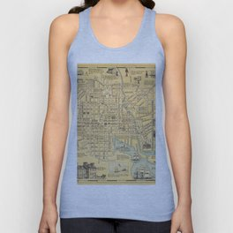 Pictorial Map of Baltimore Unisex Tank Top