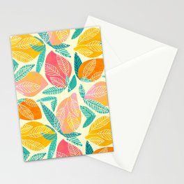 Festive Mangos / Tropical Fruit Pattern Stationery Cards