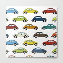 Little Beetle Pattern Metal Print