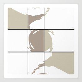 Modern Whimsical Geometric Art Print