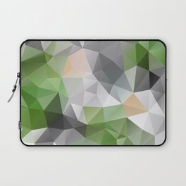 Grey green polygonal pattern Laptop Sleeve