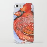cardinal iPhone & iPod Cases featuring Cardinal by Priscilla George