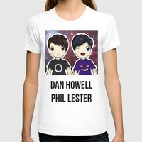 danisnotonfire T-shirts featuring Dan and Phil chibi by Farhana
