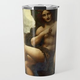 "Leonardo da Vinci ""Bacchus, formerly Saint John the Baptist"" Travel Mug"