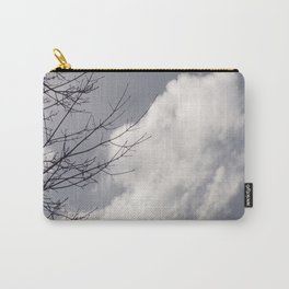 Beautiful Grey Sky With Single White Cloud Reflecting Sunlight Carry-All Pouch