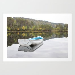 Messing about on the Loch Art Print
