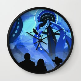Europa Space Travel Retro Art Wall Clock