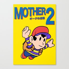 Mother 2 / Earthbound / Super Mario Bros. 3 Style Canvas Print