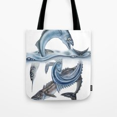 INKYFISH - Fish scraps Tote Bag