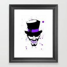 Mad Hatter Minimalism  Framed Art Print