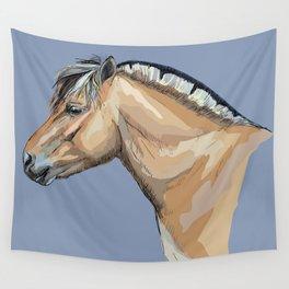 Portrait Horse Head Profil Norwegian Fjord Wall Tapestry