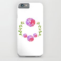 Floral Round Slim Case iPhone 6s