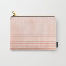 Sweet Life Peach Coral Gradient Carry-All Pouch
