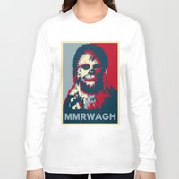 chewbacca Long Sleeve T-shirts featuring Chewbacca  by Ilustrachii