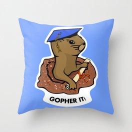 Gopher it, Graduate! Throw Pillow