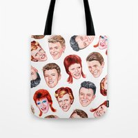 Tote Bags featuring He Was The Nazz by Helen Green