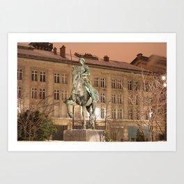 Joan of Arc Frozen in Time Art Print