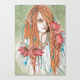 Crimson Wings - Enchanted Visions Project Canvas Print