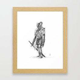 """Turin"", dragonslayer, black blade of Nargothrond Framed Art Print"