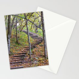 Stairway into the Woods Stationery Cards