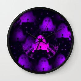 Halloween Parade (in purple) Wall Clock