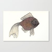 goldfish Canvas Prints featuring Goldfish by Amanda James