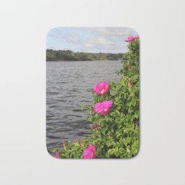 Seaside Wild Roses Bath Mat