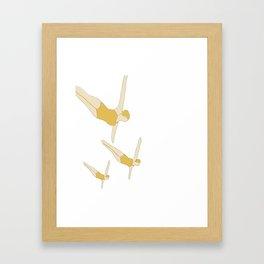 Synchronized Swimmers Framed Art Print