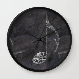 Chalkboard music note Wall Clock