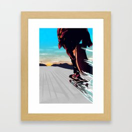 Keep  On Pushin' Framed Art Print