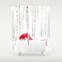 run Shower Curtains featuring There's nowhere to run by Robert Farkas