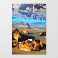 no face Canvas Prints featuring Face by John Turck