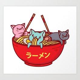 Kawaii Anime Cat Shirt - Funny Adorable Japanese Illustration Art Print
