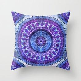 Hydrangea Mandala Throw Pillow