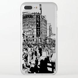 Shibuya Crossing, Tokyo Clear iPhone Case
